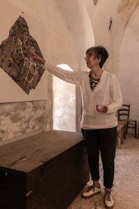 Nori Meo-Evoli durante il tour del Parco Rurale di Masseria Spina a Monopoli